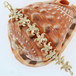 Jewelry - 14K Gold Starfish Bracelet